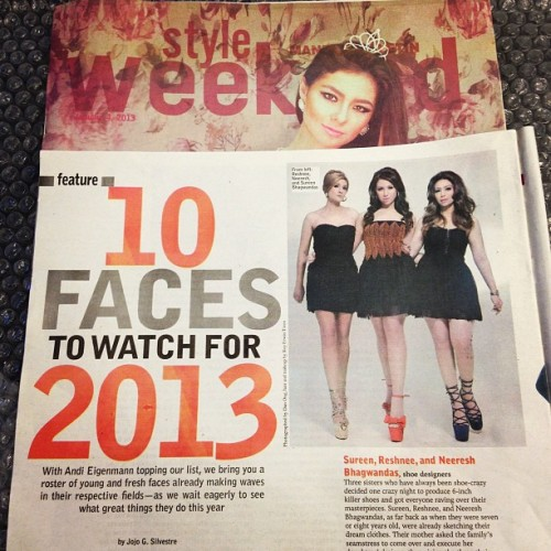 Manila Bulletin Today-Style Weekend magazine (Jan.4,2013) #10FacestoWatchfor2013 #dassisters