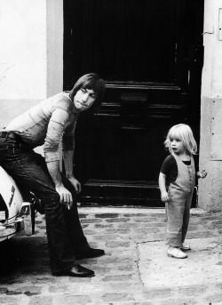Charlie and his daughter, Serafina, 1970.  Charlie is easily my favourite Stone
