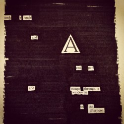 """Self-editing,"" a newspaper blackout by Austin Kleon"