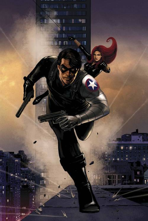 Market Monday Winter Soldier #13, colored by Jordie Bellaire  Part 4 of WIDOW HUNT! Who's hunting the hunter?!  ~Preview~