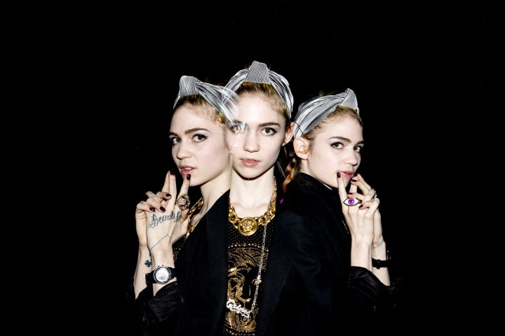 seli8:  Grimes on Veersus Versace photo by   Kevin Tachman
