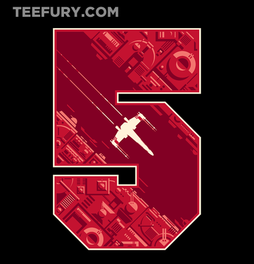 gamefreaksnz:   Red Five by Obvian US $11 for 24 hours only Artist: Website | Facebook | Redbubble | Tumblr