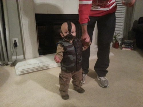 "Baby Bane ""When my dirty diaper is in the trash, then you have my permission to tickle me."""