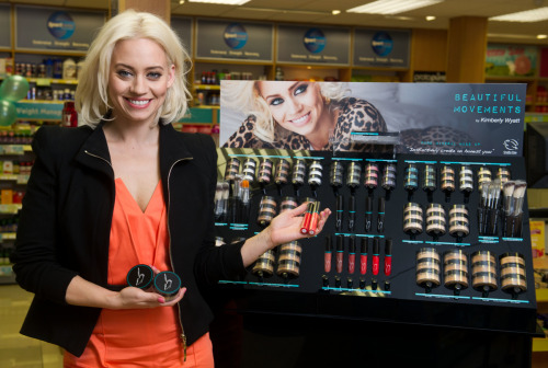 My interview with former Pussycat Doll Kimberly Wyatt about her cosmetics line, Beautiful Movements here.