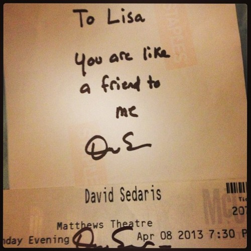 Friends #davidsedaris (at McCarter Theatre)