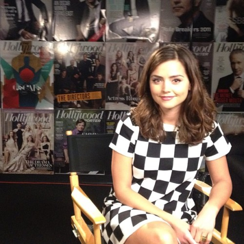 @bbcamerica: We're hanging out with #DoctorWho's Jenna-Louise Coleman today. Here she is having a chat with The Hollywood Reporter