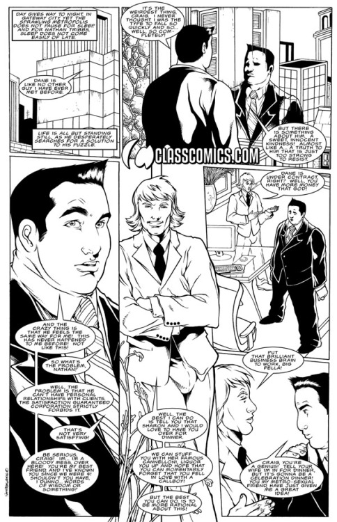 SATISFACTION GUARANTEED #4 Black and white preview from 2006. Art & Story by Patrick Fillion. SATISFACTION GUARANTEED & all related characters are © Copyright & TM 2013, Class Comics Inc. All Rights Reserved. www.classcomics.com