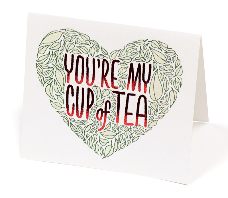 Give your loved one a tea-riffic Valentine's Day card!  Download our FREE printable card here.