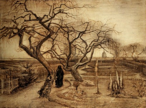 denisforkas:  Vincent van Gogh - The Winter Garden. 1884