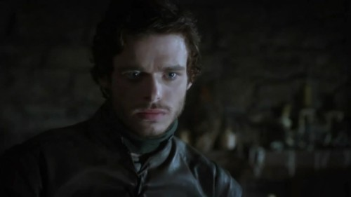 "hellogiggles:  CRUSH OF THE WEEK: 'GAME OF THRONES' RICHARD MADDEN by Meghan O'Keefe http://bit.ly/12rmWrE  OH HI.  ""Richard Madden has hair the color of early morning sunlight hitting autumn leaves. Richard Madden has sapphire eyes that betray a kind soul. Richard Madden looks good with or without facial hair, but since his facial hair is also the color of early morning sunlight hitting autumn leaves, I prefer him with facial hair."""
