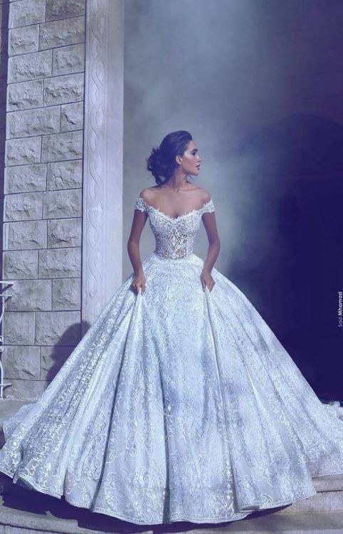 off the shoulder wedding gowns | Tumblr