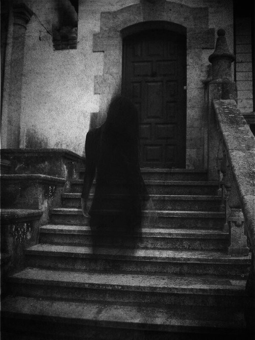 photography girl Black and White creepy photo horror dark door Stairs house ghost Macabre eerie entrance ? & photography girl Black and White creepy photo horror dark door ...
