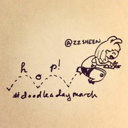 March11:hop! @ellolovey #doodleadaymarch #illustration #sketch #bunny