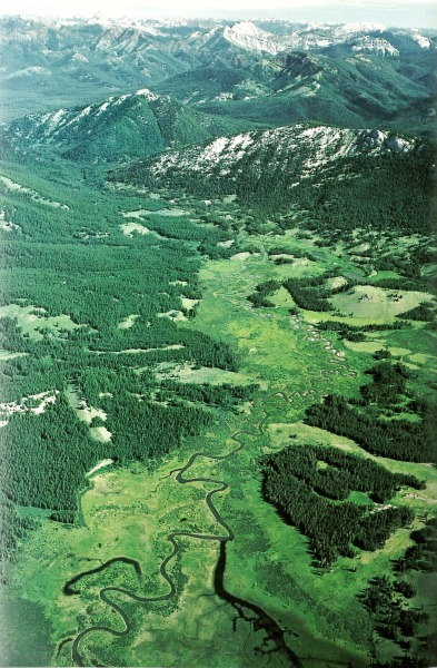 vintagenatgeographic:  Monture Creek, Montana National Geographic | May 1985