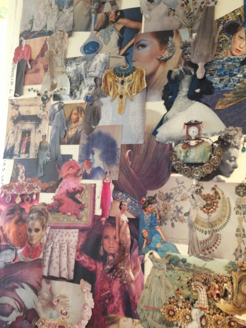 glamour:  Lovely inspiration board made by the girls at Marchesa for their Fall 2013 collection -MDJ