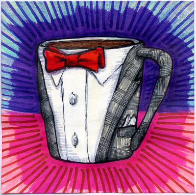 "I drew you a Pee-wee Herman Suit Mug of Coffee Created as a Thank You to Pee-wee Herman for posting my Pee-wee's Big Adventure Van illustration on his Official Facebook page, today I drew you a Pee-wee Herman Suit Mug. I hope you like it. This is part of my ""The Daily Coffee"" marker drawing series. Also find Art Prints, Canvas Prints, and Pillows of this art at Society6: Shop Now"