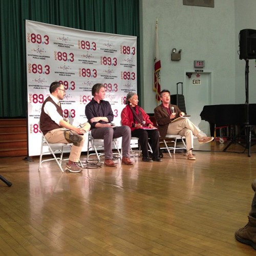 Talking independent businesses in Venice @kpcc forum. (at Aldama)