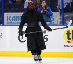 everyday-normal-sith:  SHIT JUST GOT REAL  This is just wrong. He needs to have a double-barreled hockey stick.