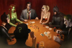 funny batman joker harley quinn catwoman Poison Ivy dc comics poker The Riddler Two Face