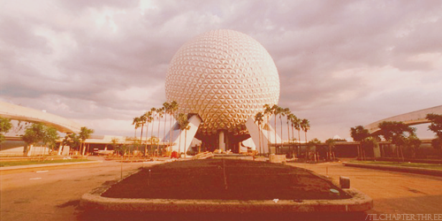 The construction of EPCOT.