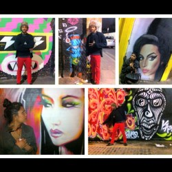 Our lil photo shoot with some #Bricklane #graffiti  (at Bricklane)