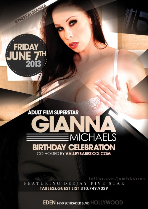 Adult Star Gianna Michaels Birthday at EdenView Post