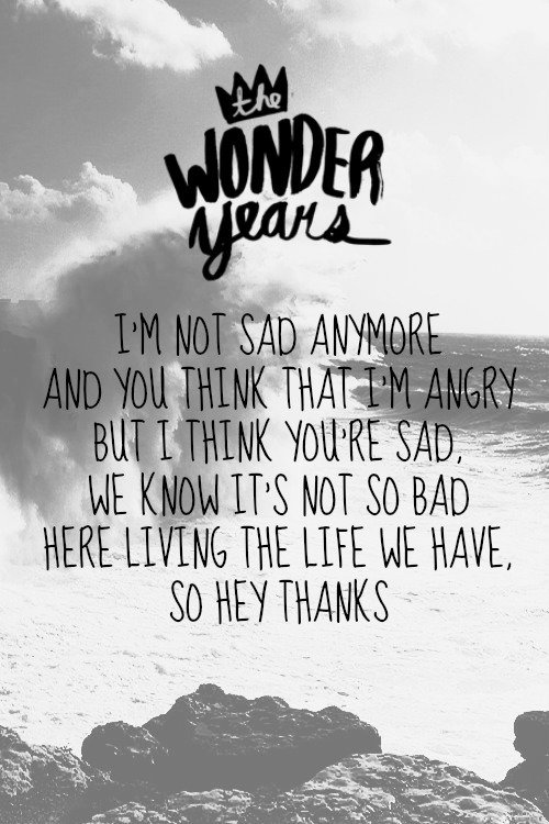 defend-pop-hardcore-punk:  The Wonder Years - Hey Thanks