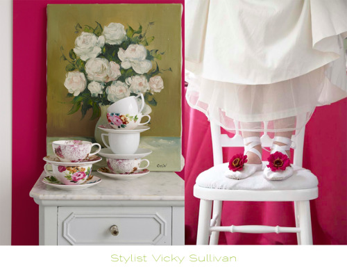 Styling from Vicky Sullivan Post found at Vintage Rose Brocante