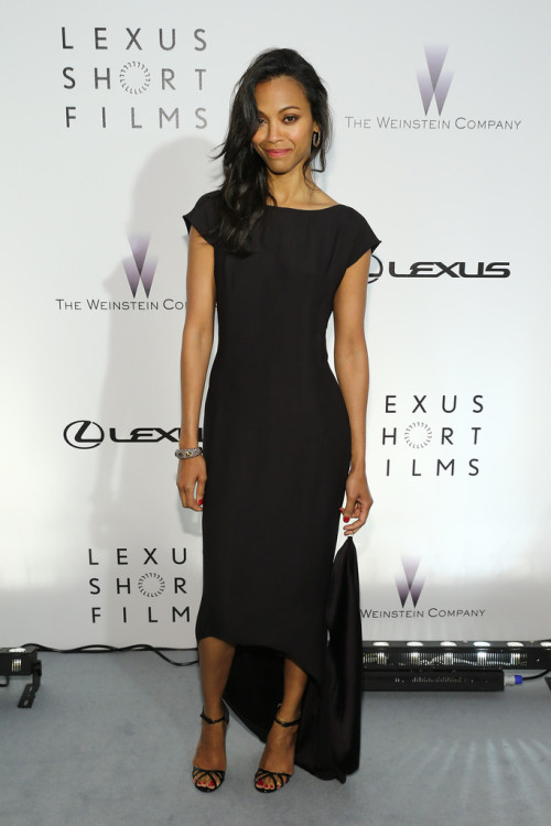fuckyeahhotactress:  Zoe Saldana at the 'Life is Amazing' Presentation in Cannes