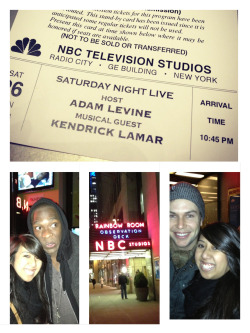 SNL Stand-by success with Adam Levine and Kendrick Lamar… Plus some nice photo opps with Taran Killam and Jay Pharoah!