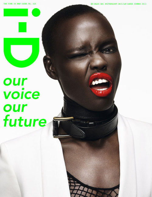 The i-D Summer 2013 covers: Grace Bol by William Baker