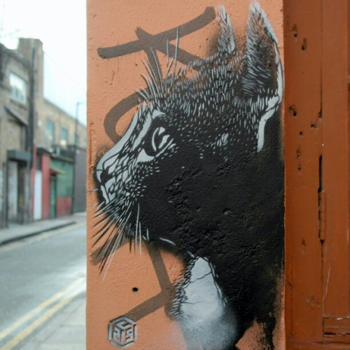 #streetartlondon by @christianguemy aka #C215  (at Whitby Street)