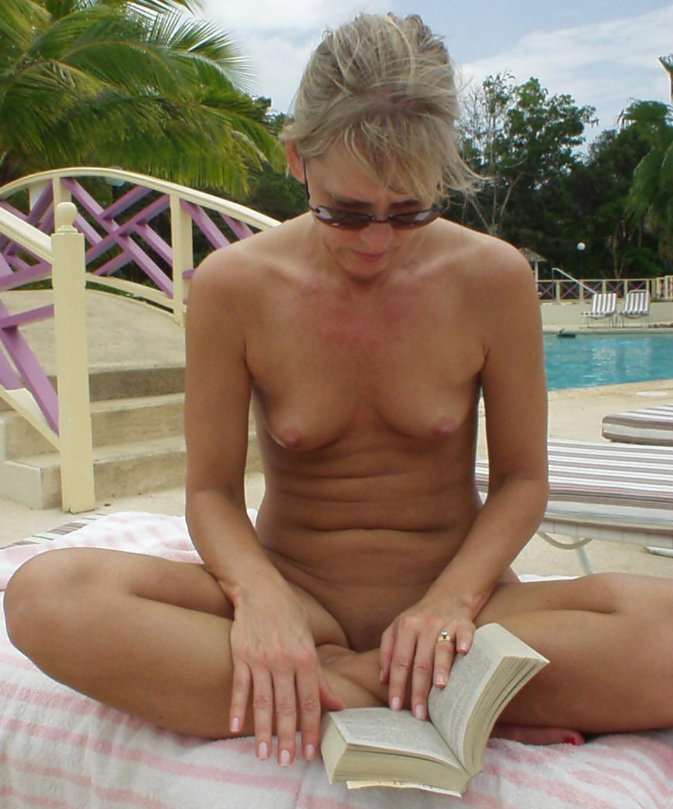 Skinny milf small tits