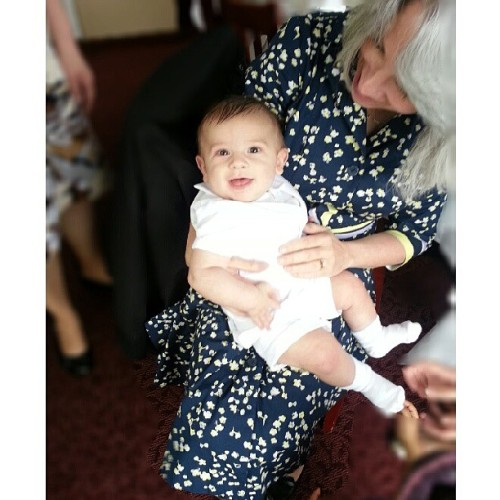 My #baby #cousin #JohnRobert4th is so stinkin #cute #sweet #lovehim #baptism #latergram #Albany #NY