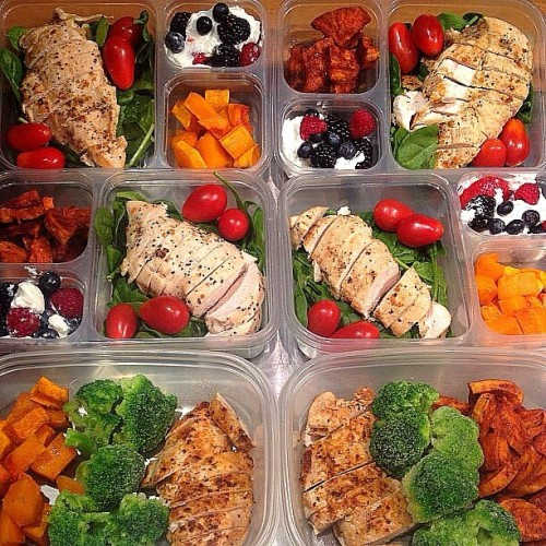 Start this week off right - start prepping your meals tonight and tomorrow so you can win all week long like .  Here are THREE different meals you can prep and eat each day while you are away from home. To keep items fresh, you can prep the food and then freeze it. The night before you need it, put it in the refrigerator so it is good to go in the morning. (1) Chicken, roasted cinnamon sweet potato chunks, broccoli (steamed or roasted) (2) Chicken, baby spinach and cherry tomatoes, butternut squash, berries and Greek yogurt. (3) Chicken, baby spinach and cherry tomatoes, roasted cinnamon sweet potato chunks, berries and Greek yogurt. Select a different type of seasoning for the chicken for each meal and you can really transform the dish. Enjoy!
