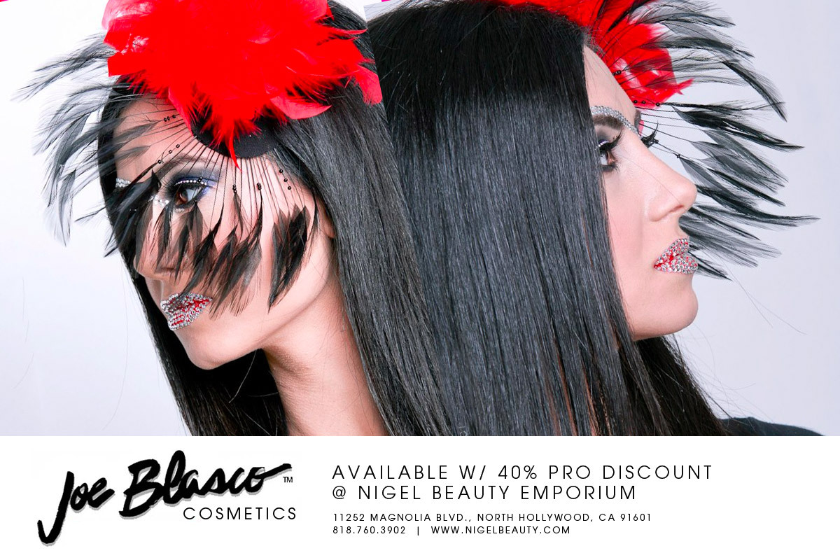 Joe Blasco Cosmetics are available for 40% off with Nigel's Pro Discount.