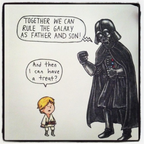 "From ""Darth Vader and Son"" by Jeffrey Brown"