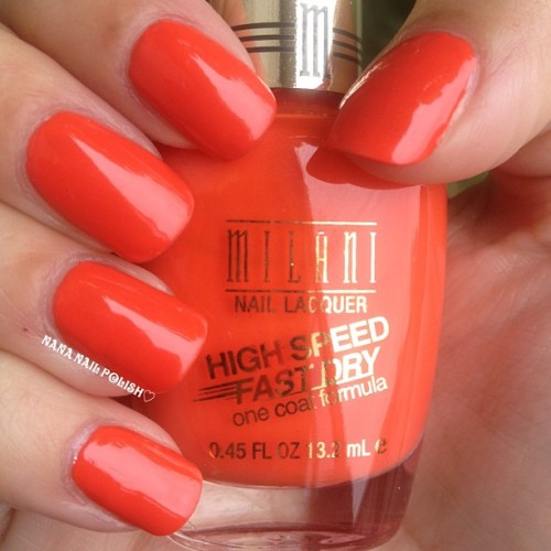 Milani - Jiffy Orange #nails #nailpolish #milani #jiffyorange #notd #orange #polish