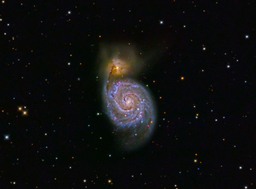 M51 - Whirlpool Galaxy - reworked by cfaobam on Flickr.
