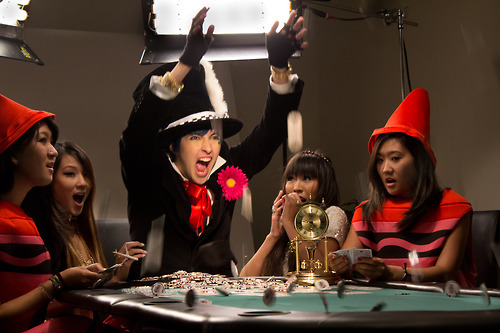 Behind the Scenes photo from Chad Future's new MV! (That's me on the right…gettin' my CRAY-ON!)