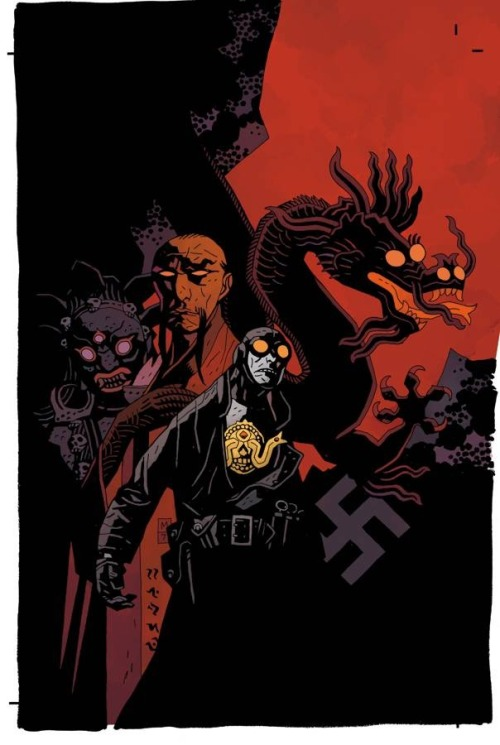 Lobster Johnson Art by Mike Mignola