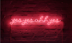 jubaloodesign:  KARENAY | yesyesohhyes Neon installation (2010) Neon, transformer, cables;  100 x 14cm Image courtesy of Paul Tucker Photography