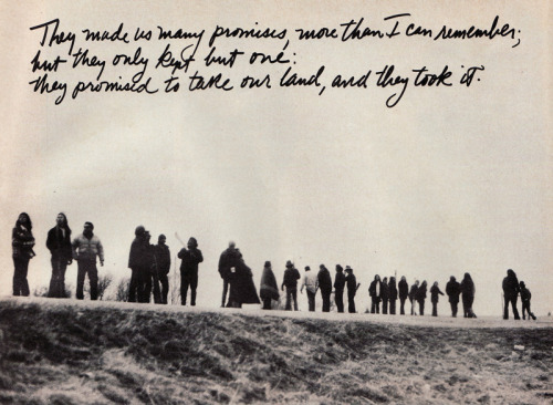 strathshepard:  Occupation of Wounded Knee by the American Indian Movement (AIM), 1973, as profiled in Ramparts Magazine