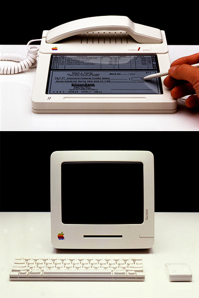 A collection of intriguing, rarely-seen concepts of early Apple products, including the 1983 iPhone. Collected by Marc Esslinger, son of Apple IIc designer, Hartmut Esslinger. (via FFFFOUND!)