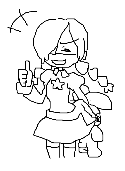 Quick appreciative Annie trackpad scribble for everyone who voted for Annie today.