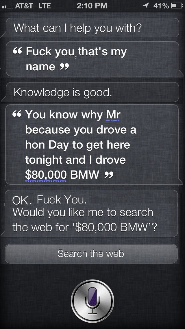 Siri shouldn't get the good leads