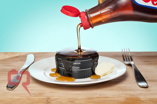 Pancake lens with some maple syrup … Breakfast anyone?