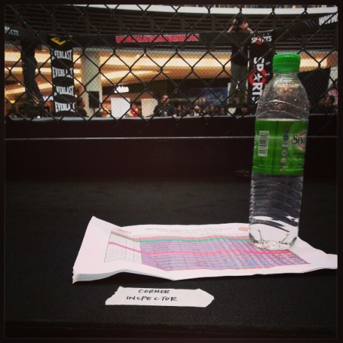 On the job #mma #mimma #mixedmartialarts #ringside