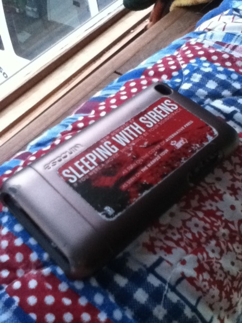swstheband:  hakuna-matata-nstuff:  My SWS sticker is starting to deteriorate off of my iPod case :(  http://www.sleepingwithsirens.net
