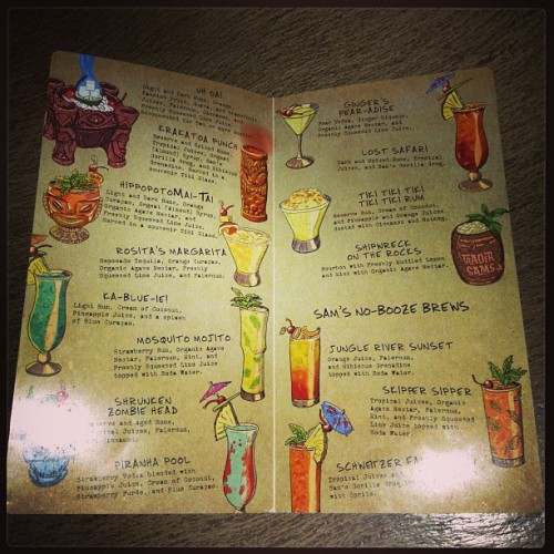 #tradersams menu. #disneyland #tiki